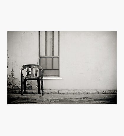 out of shore red chair Photographic Print