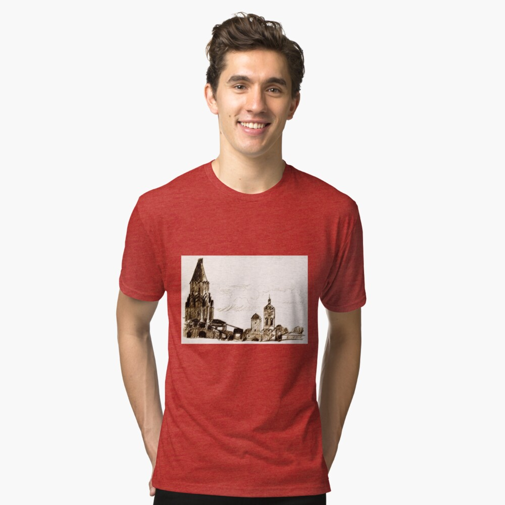 old town Tri-blend T-Shirt Front