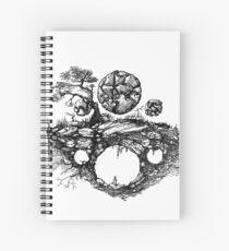 inverted stone Spiral Notebook