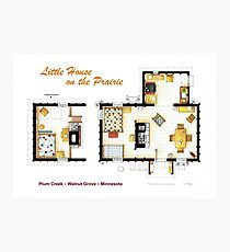 Floorplan of the LITTLE HOUSE ON THE PRAIRIE Photographic Print