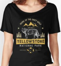Yellowstone T shirt National Park Grey Wolf - Vintage Gifts Men Women Kids Youth Women's Relaxed Fit T-Shirt