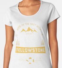 Yellowstone T shirt National Park Grey Wolf - Vintage Gifts Men Women Kids Youth Women's Premium T-Shirt
