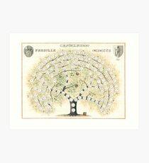 Original Genetti Family Tree Art Print