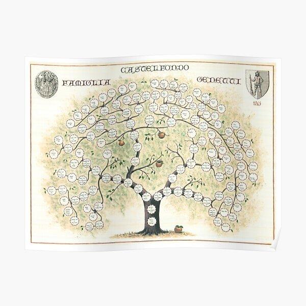 Original Genetti Family Tree Poster