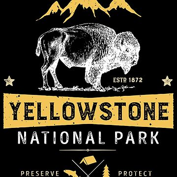 Yellowstone T shirt National Park Bison Buffalo - Vintage Gifts Men Women Youth Kids Tees by LiqueGifts