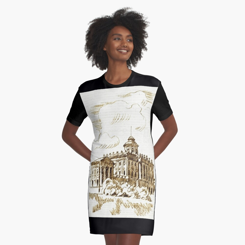 old town Graphic T-Shirt Dress Front
