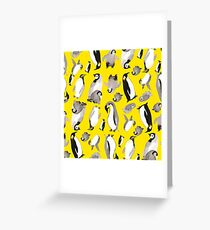 Yellow Penguin Potpourri Greeting Card
