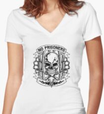 No Prisoners MC Gear Women's Fitted V-Neck T-Shirt