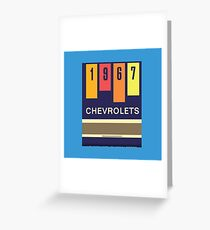001 | 1967 Chevrolets Matchbook Greeting Card