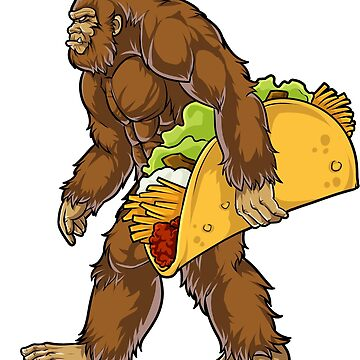 Bigfoot Sasquatch Carrying Taco T shirt Funny Camping Gifts Men Women Kids Boys by LiqueGifts