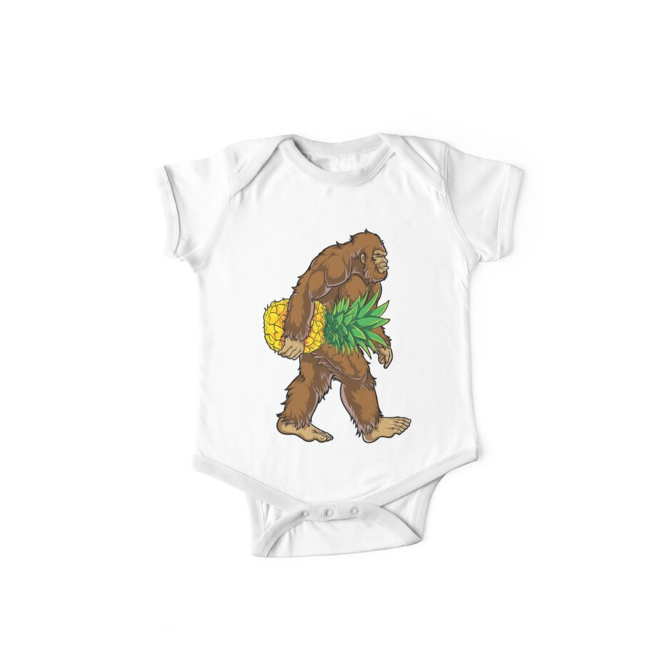 9164064a Bigfoot Carrying Pineapple T Shirt Funny Sasquatch Gifts Tee Men Women Kids  Boys Tees