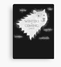 Winters a Coming Canvas Print