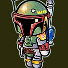 """""""Bad Ass Bounty Hunter"""" DIE CUT POOTERBELLY  by Pat McNeely"""