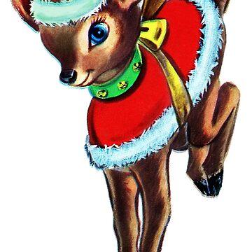Reindeer in Santa Suit  by dianegaddis