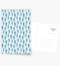 Detailed Blue Seahorses Postcards