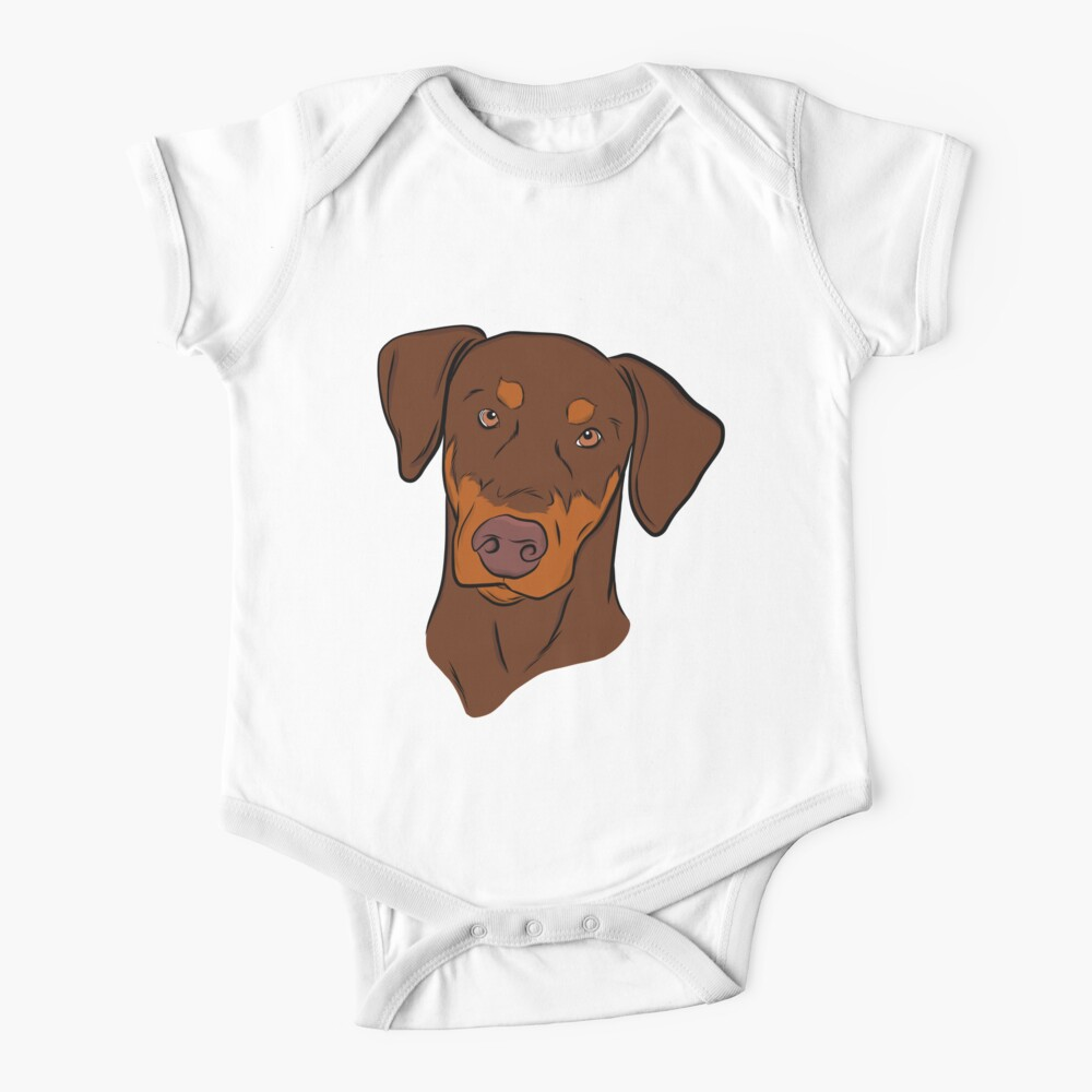 Red and Tan Doberman Baby One-Piece