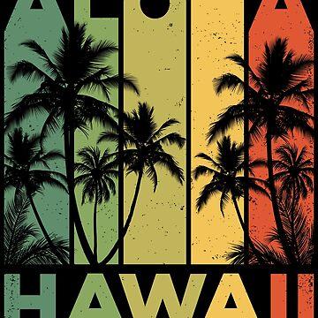 Aloha Hawaii Hawaiian Island T shirt Vintage 1980s Throwback Retro Gifts Tees Men Women Kids by LiqueGifts