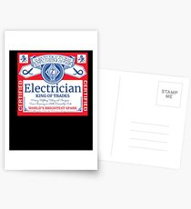 Funny Electrician Shirt Beer Drinking Retired Gift T-Shirt Postcards