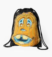 Pumpkin cartoon glowing Art Drawstring Bag
