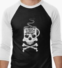 Death Before Decaf!  Men's Baseball ¾ T-Shirt