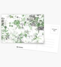 Digital art of flower pattern and wall texture mixed. Postcards