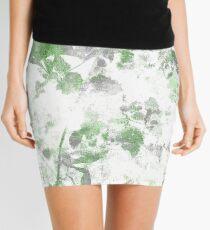 Digital art of flower pattern and wall texture mixed. Mini Skirt