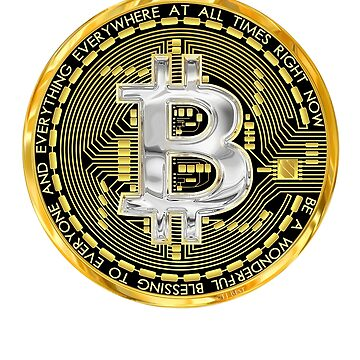 Bitcoin symbol, crypto currency curiosity,  B for blessing, by TJBest