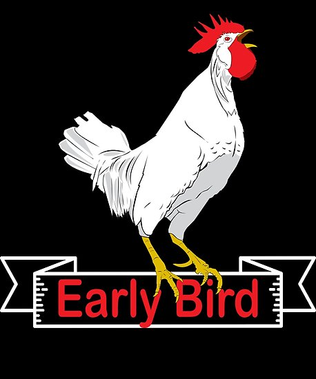 Early Bird Rooster Farm Tshirt Gift