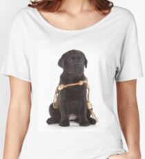black labrador puppy Women's Relaxed Fit T-Shirt
