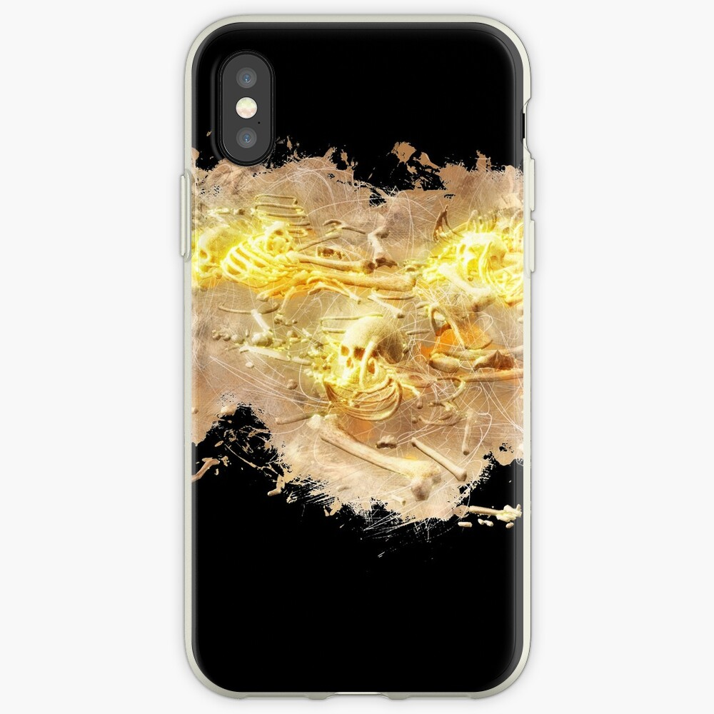 Skull skeleton glowing Art iPhone-Hüllen & Cover