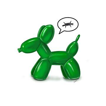 BALLOON DOG (GREEN) by ilustradsn