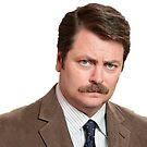 ron swanson  by lorih96