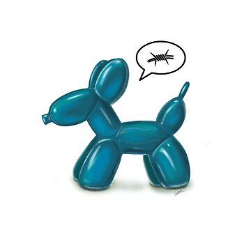 BALLOON DOG (BLUE) by ilustradsn