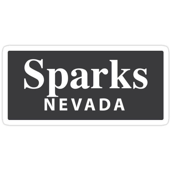 Quot Sparks Nevada Quot Stickers By Everycityxd1 Redbubble