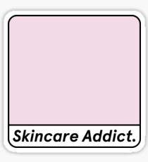 Skincare Addict Glossier Parody Design Sticker