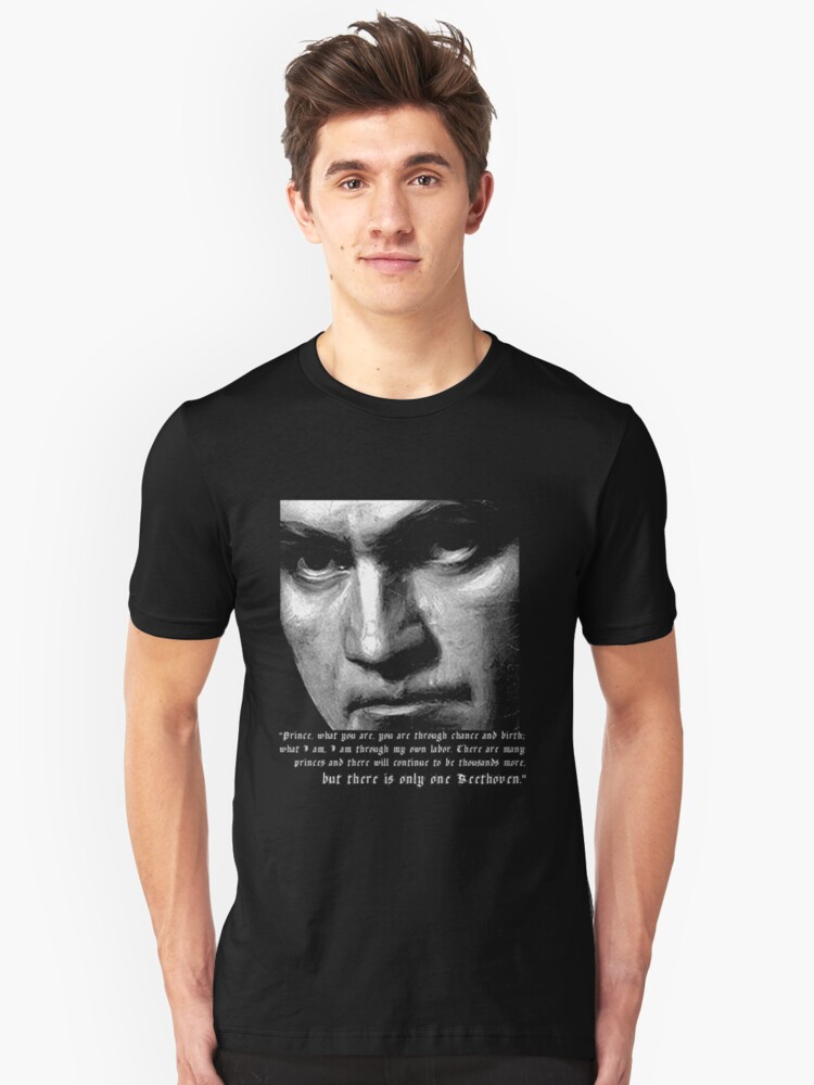 Alternate view of There is only one Beethoven! Slim Fit T-Shirt