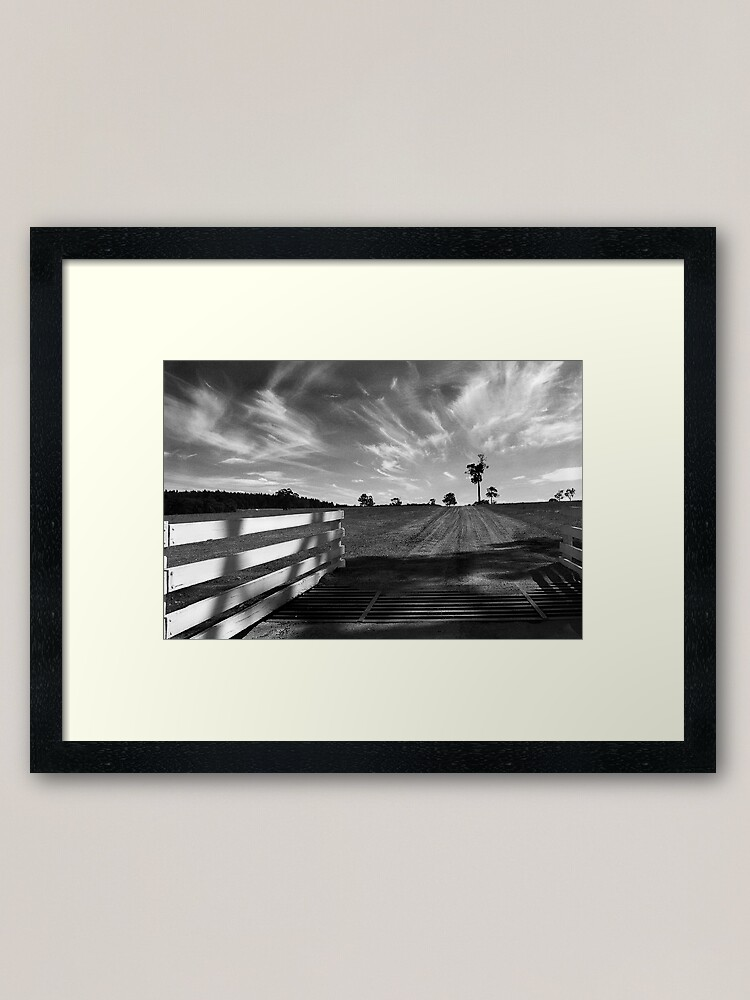Alternate view of Road to the Vineyard Framed Art Print