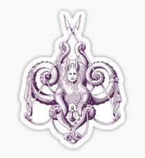 Zee the Sea Goddess Damask Sticker