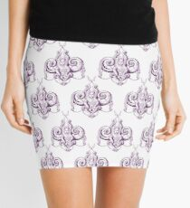 Zee the Sea Goddess Damask Mini Skirt