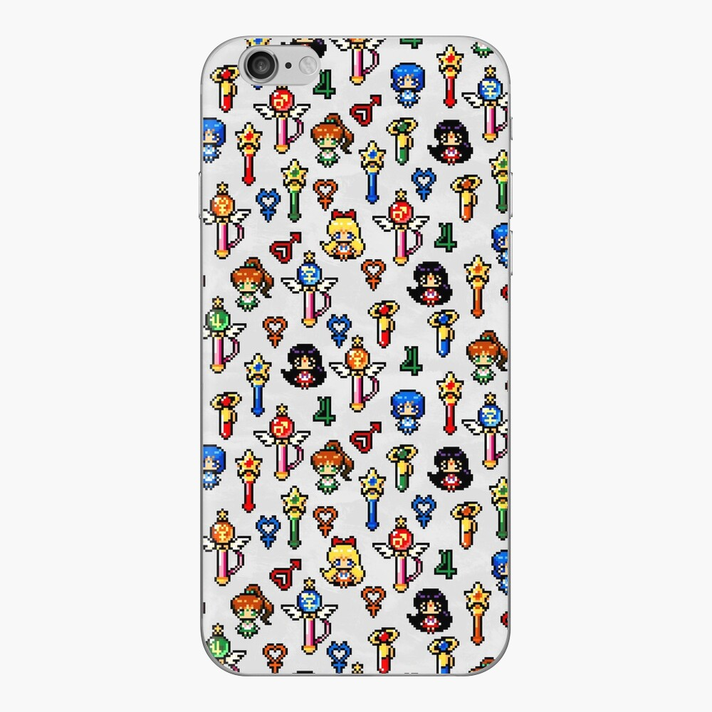 Sailor Moon Inner Senshi - Grau iPhone Klebefolie