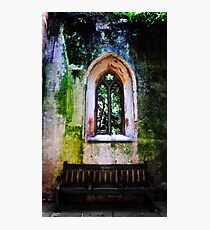 Abandoned Church Window Fotodruck