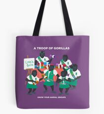 A Troop of Gorillas Tote Bag