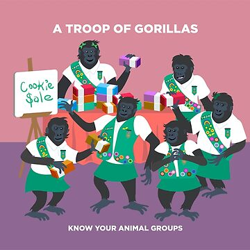 A Troop of Gorillas by PepomintNarwhal