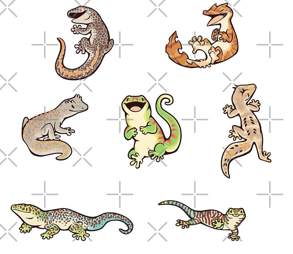 «Gecko sticker batch» de Colordrilos