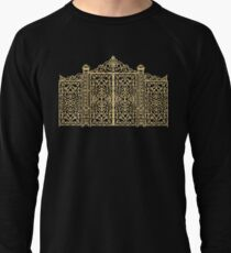 French Wrought Iron Gate | Louis XV Style | Black and Gold Lightweight Sweatshirt