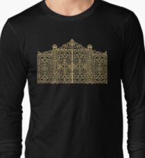 French Wrought Iron Gate | Louis XV Style | Black and Gold Long Sleeve T-Shirt