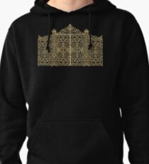 French Wrought Iron Gate   Louis XV Style   Black and Gold Pullover Hoodie