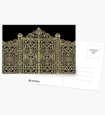 French Wrought Iron Gate | Louis XV Style | Black and Gold Postcards