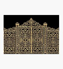 French Wrought Iron Gate | Louis XV Style | Black and Gold Photographic Print