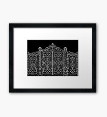 French Wrought Iron Gate | Louis XV Style | Black and Silvery Grey Framed Print